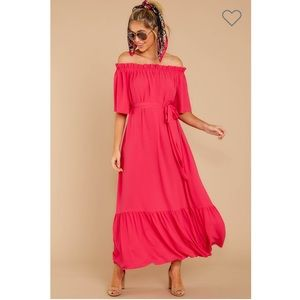 Fuschia Pink Maxi Dress
